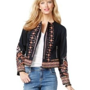 INC Plus 2X Embroidered Floral Boho Jacket Blazer